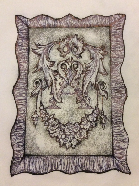Initial sketch.Raining Roses Productions Inc. Copyright 2015