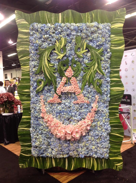 Raining Roses Art Floral Frame with the collaboration of FiftyFlowers.com