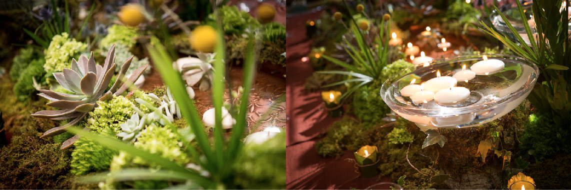 Photo Credit: Scott Watt Photography  Personally, I love candles and greenery. They set the mood for perfection.