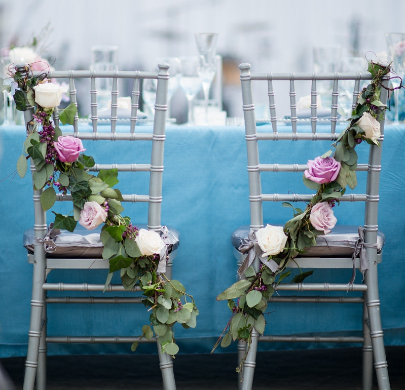 Photo Credit: Kathy Thomas  This is a favorite of mine. Floral chairs will make you feel like you're sitting on royalty.