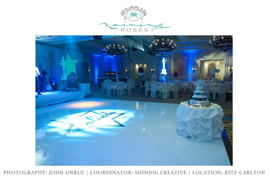 Now who's the star here? Linda of course! We made sure this custom dance floor made a statement!