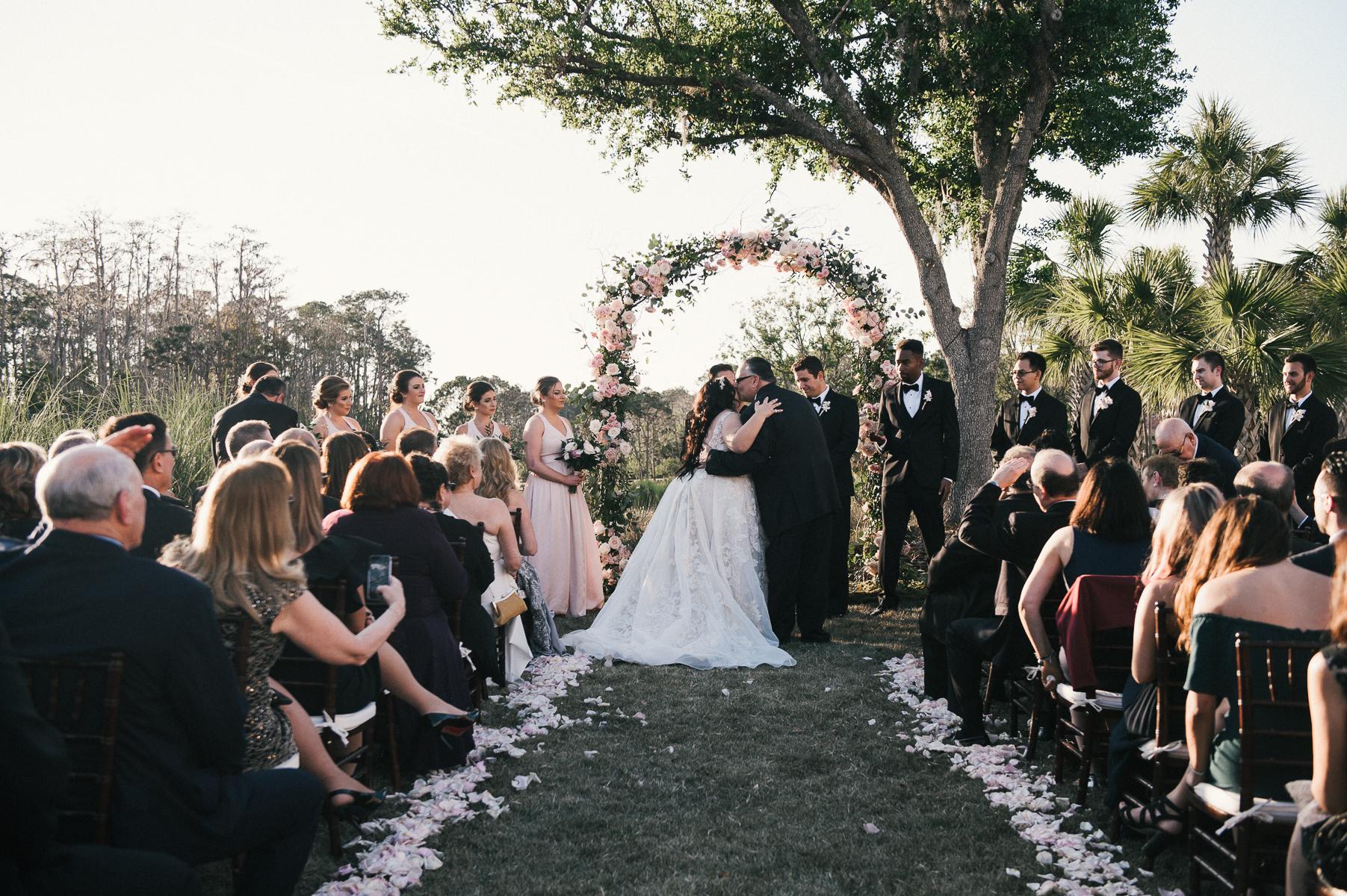 Wedding Photographer: Still 55 | Wedding Designer: Tres Chic Whitney | Wedding Location: Four Seasons Resort Orlando at Walt Disney
