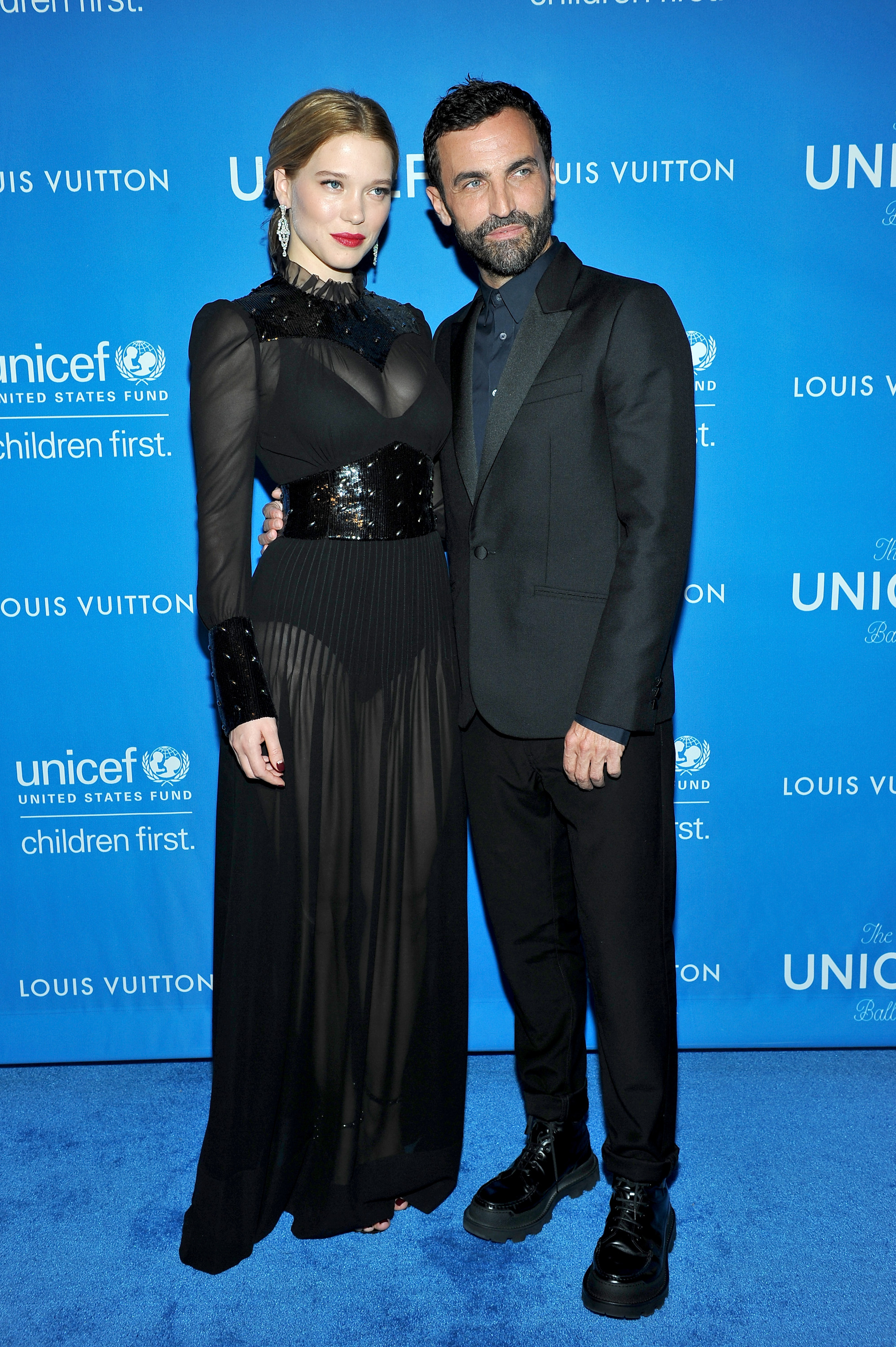 Lea Seydoux and Nicolas Ghesquiere at the 2016 UNICEF Ball