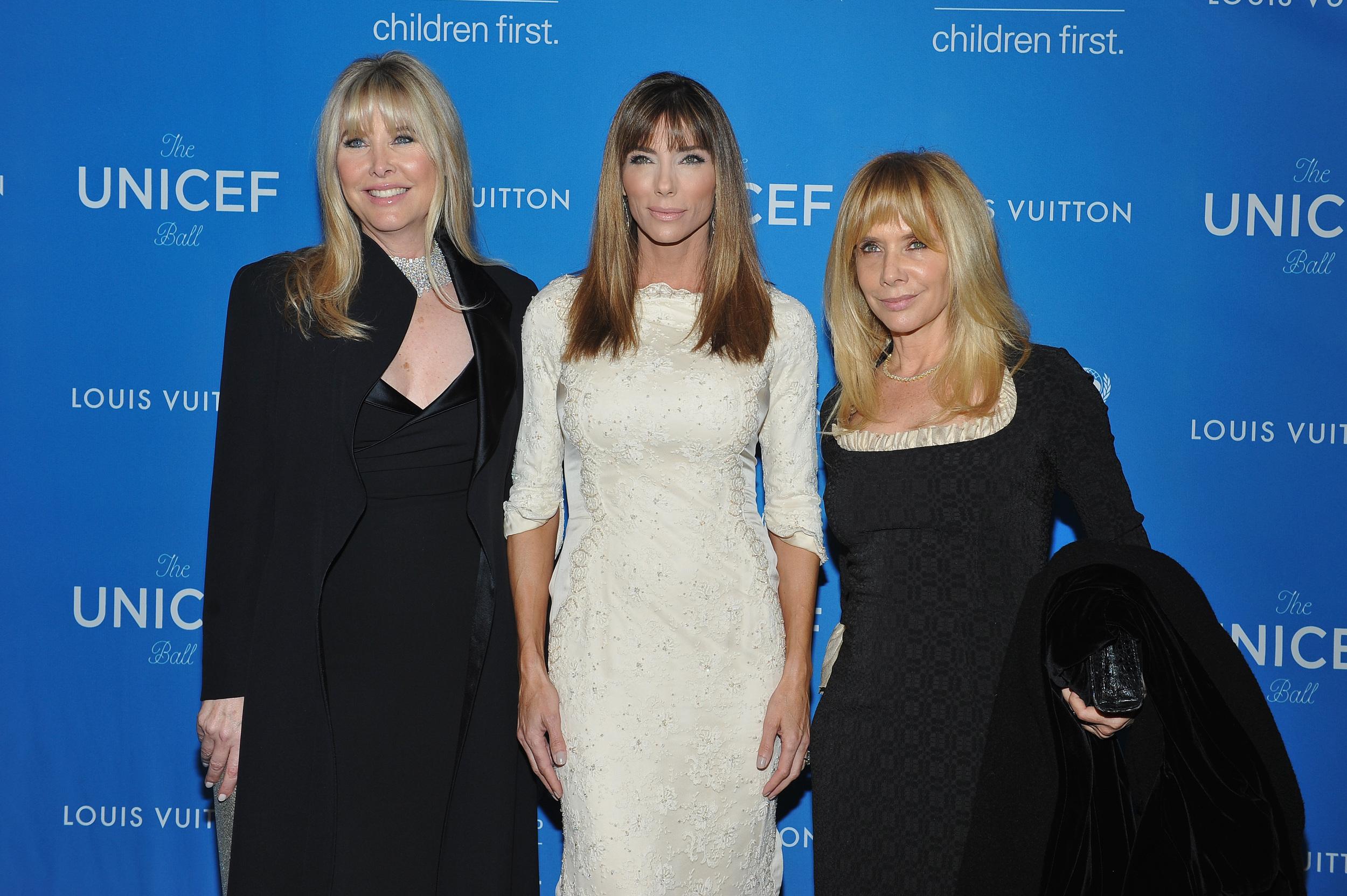 Irena Medavoy, Jennifer Flavin Stallone and Rosanna Arquette attend the 2016 UNICEF Ball
