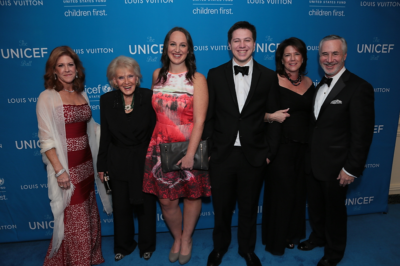 Susie Ekins and guests at the 2016 UNICEF Ball