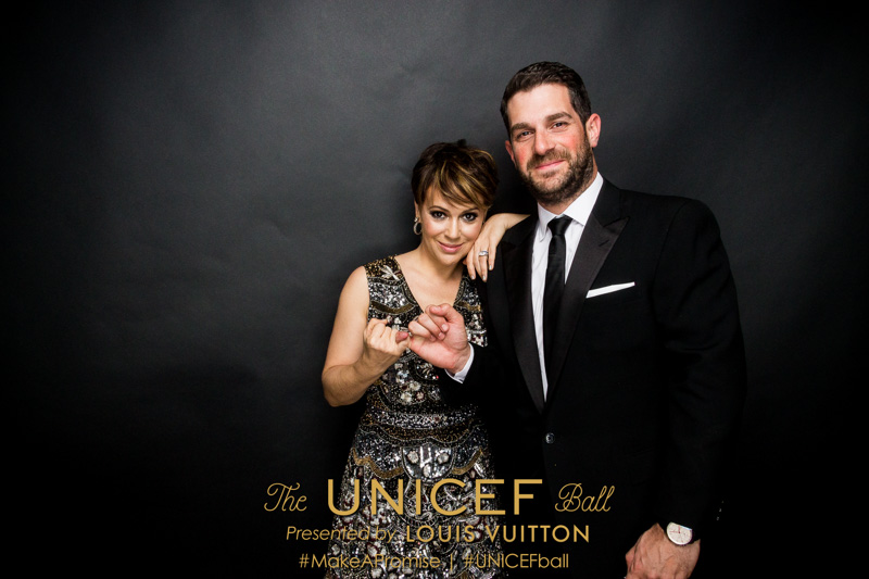 Alyssa Milano and guest at the 2016 UNICEF Ball