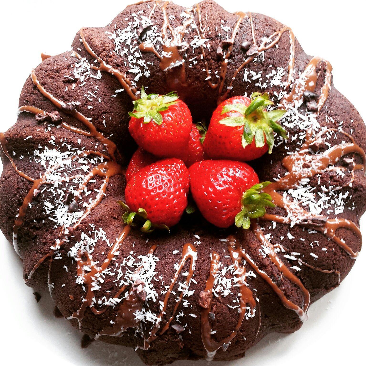 Gluten Free, Vegan Coconut Chocolate Cake