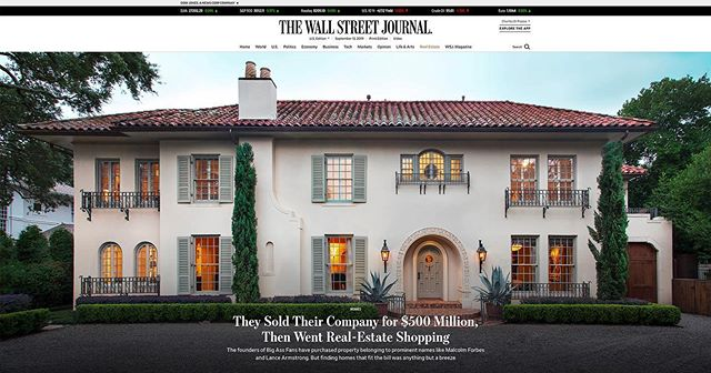 We're excited to have our Windsor House in The Wall Street Journal.  Thanks to our great clients Carey and Nancy and the CDPA design team @wsj