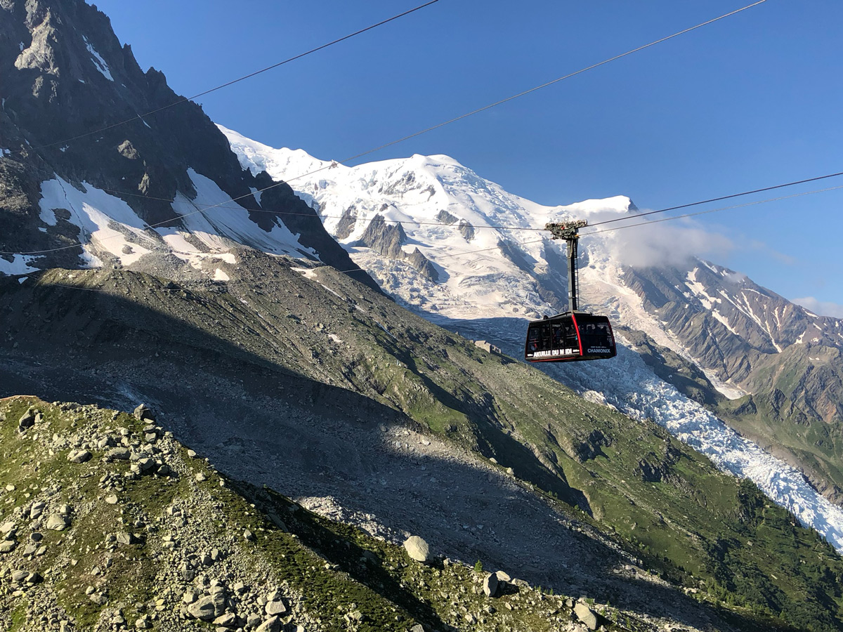 Prior to the running adventure the cable car trip up to Aiguille du Midi at 12,680 with up close views of the summit of Mont Blanc was breathtaking. These pictures don't even do it justice.