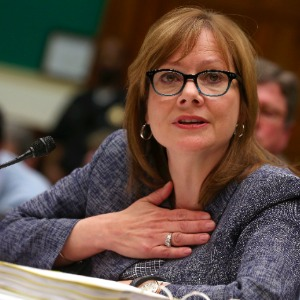 Mary Barra testifying before Congress in 2014