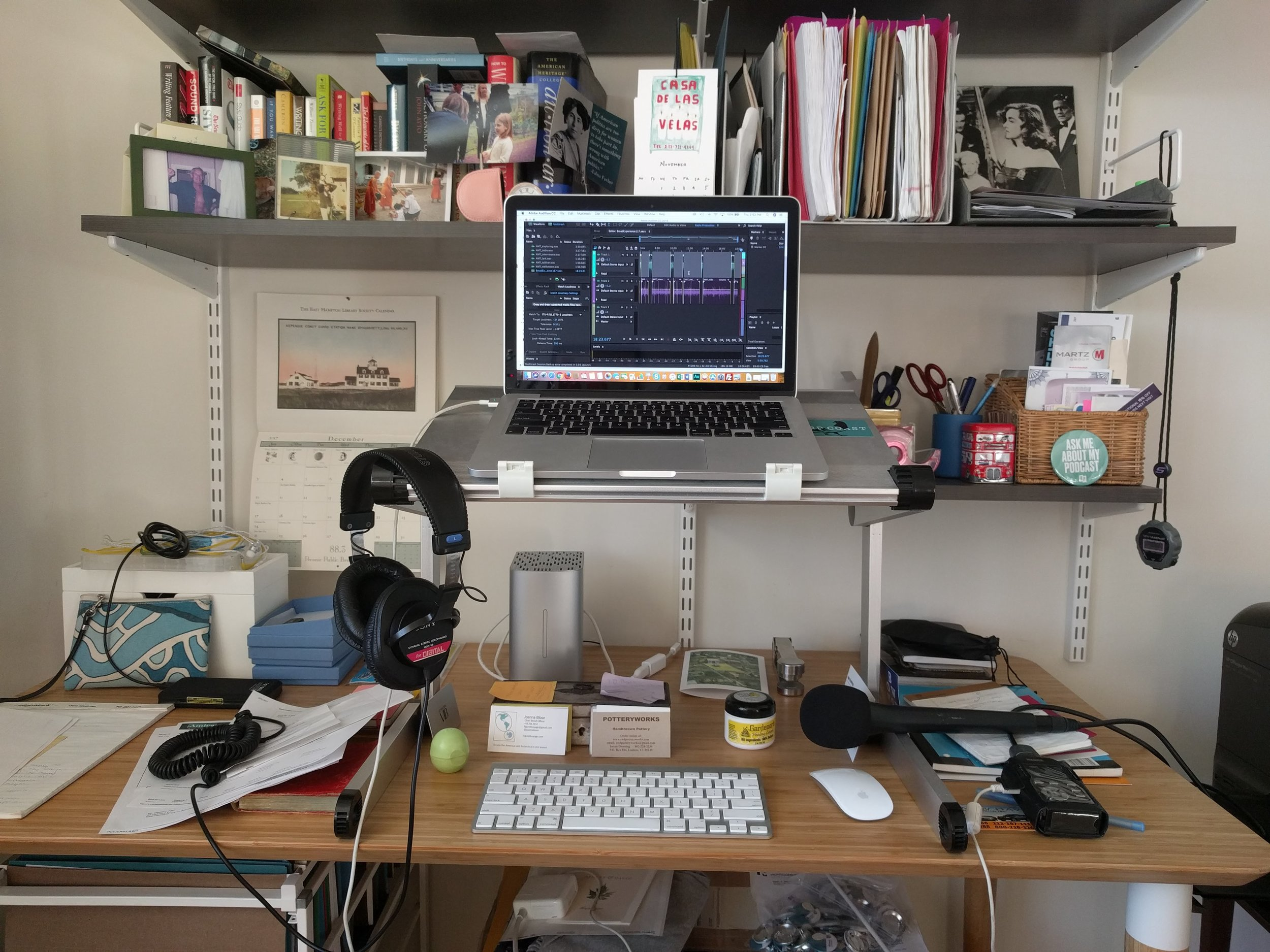 My desk in Brooklyn while I was working on this episode