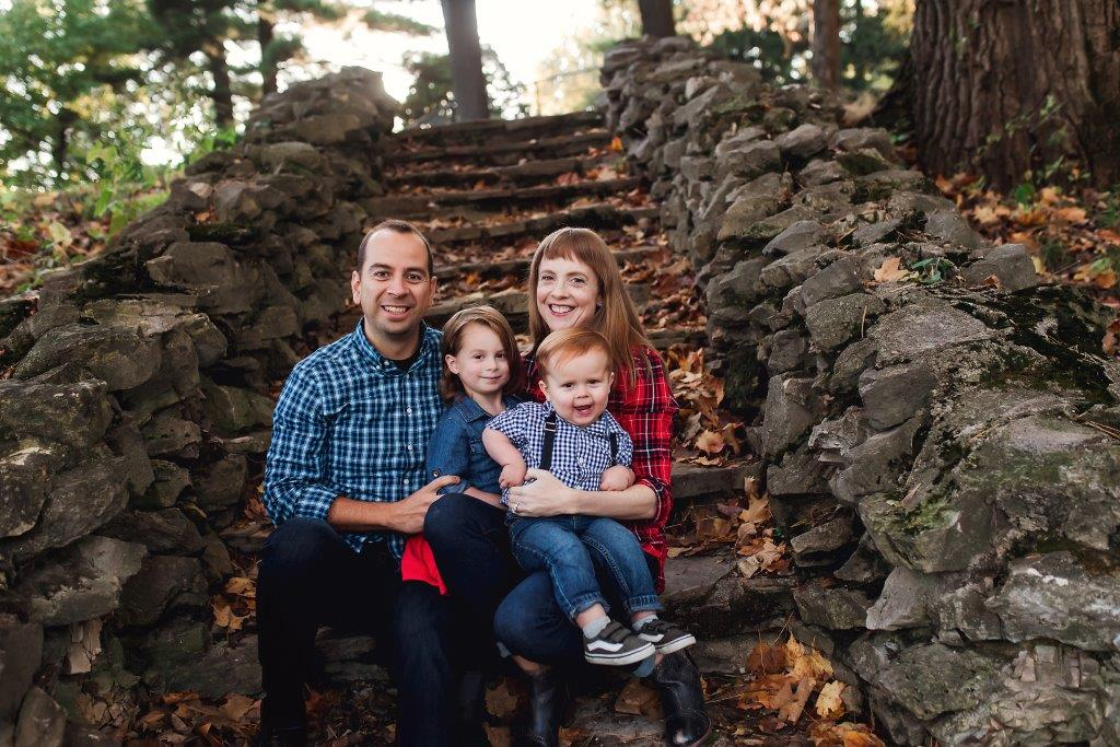 Heather anaya with her husband and children