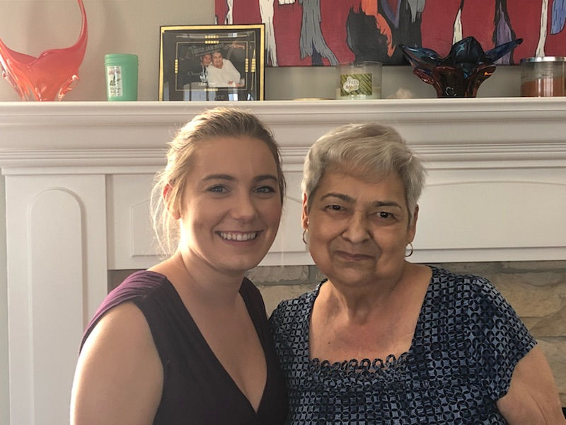 Morgan Murtaugh and her grandmother on the day of our interview