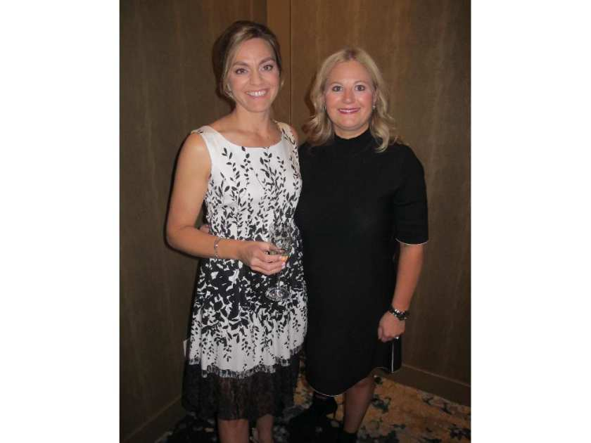 Pictured with reason to smile at the Famous 5 Gala held Oct 1 at Hotel Arts are Famous 5 Foundation chair Carolyn Robertson and gala chair Kim Berjian. The SRO event was co-hosted by the foundation and Alberta Culinary Tourism Alliance.