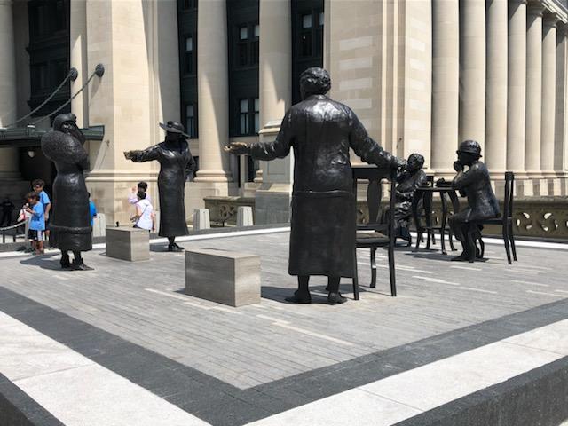 Famous Five monument. Ottawa, ON.