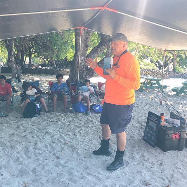 Lā 'Ekolu at Keahuolū camp...Learn, eat, play...and grow together. 🎣🎣🎣