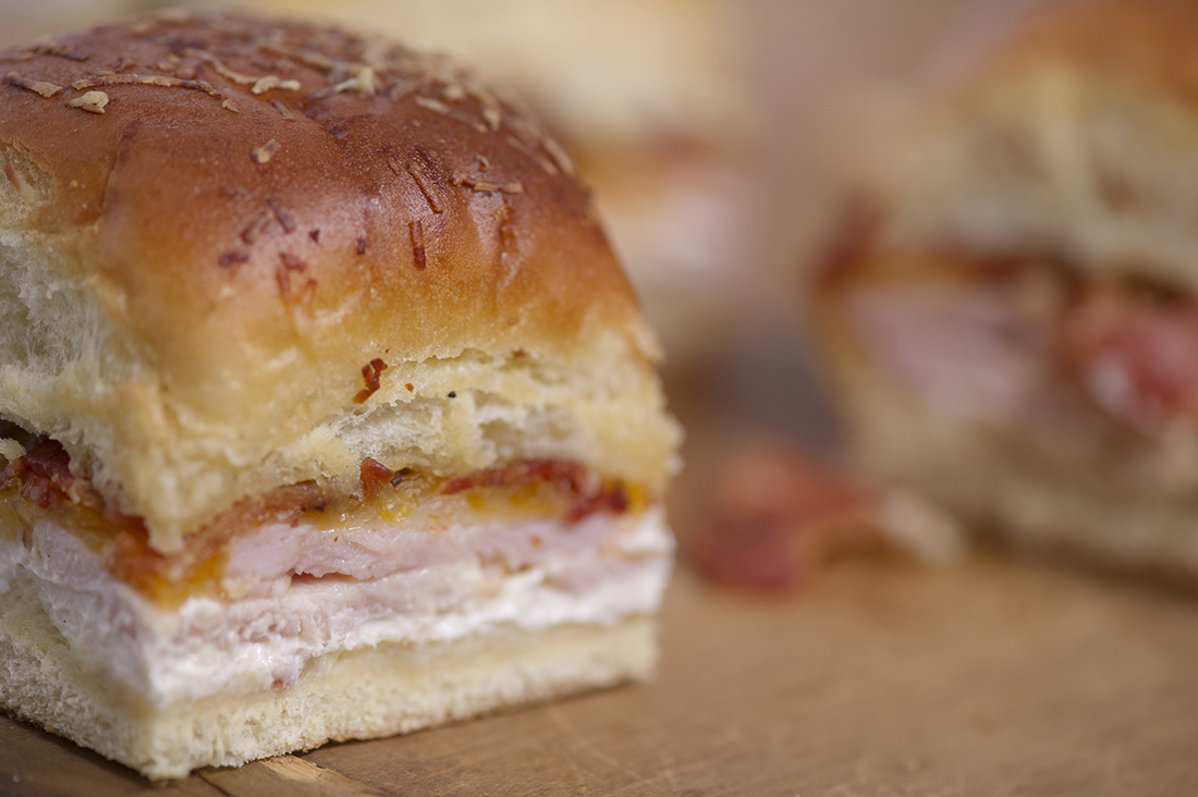 5. Turkey Jalapeño Popper Sliders - Bake these at home and all you have to do at the game is eat and, of course, call plays from the bed of your truck. Your sliders can be on fire, even if your team isn't.