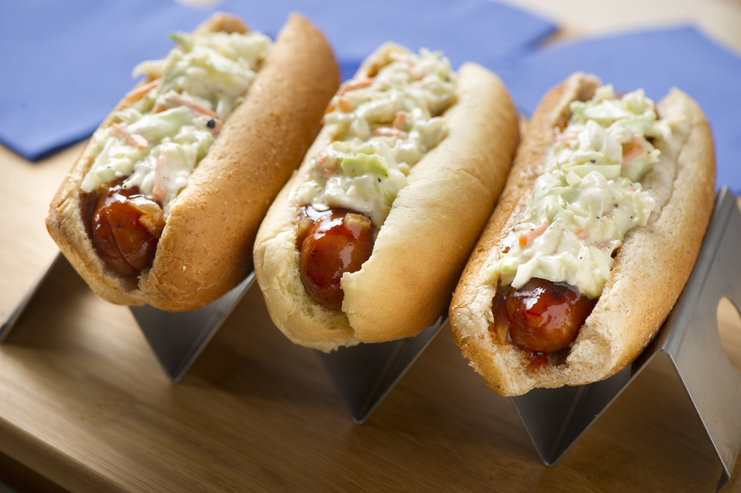 3. Bourbon Brats - Douse your Johnsonville brats with bourbon, top them with coleslaw, sit back, and enjoy the game! Your fans will appreciate the extra zing.