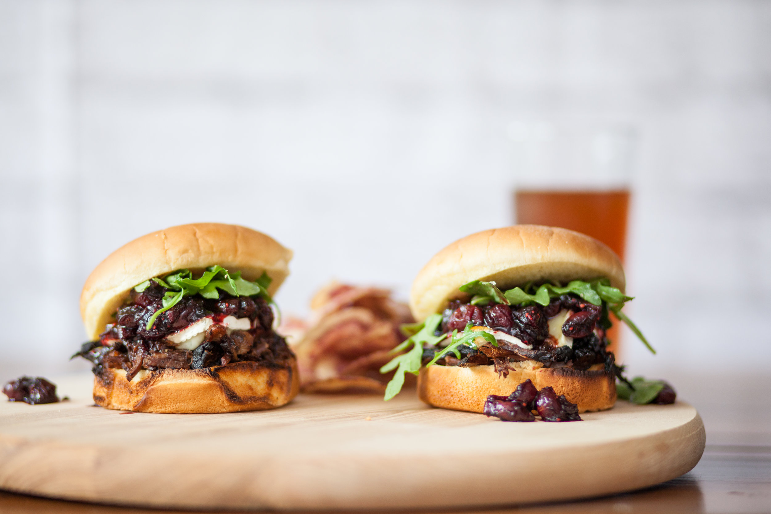 7. Steak and Brie Sandwiches with Balsamic Cranberry Sauce - Steak, Brie, and Cranberry Sandwiches are savory and sweet and oh so satisfying. Slow cook the beef the night before and you'll be ready to relax during pregame.