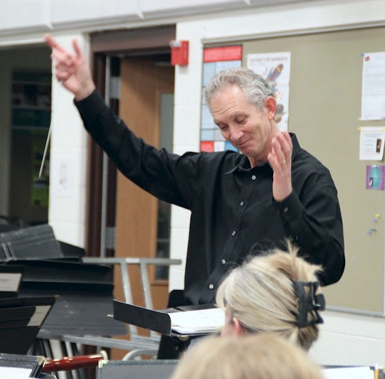 Our director, Jerry Luckhardt, enjoying a fine rehearsal