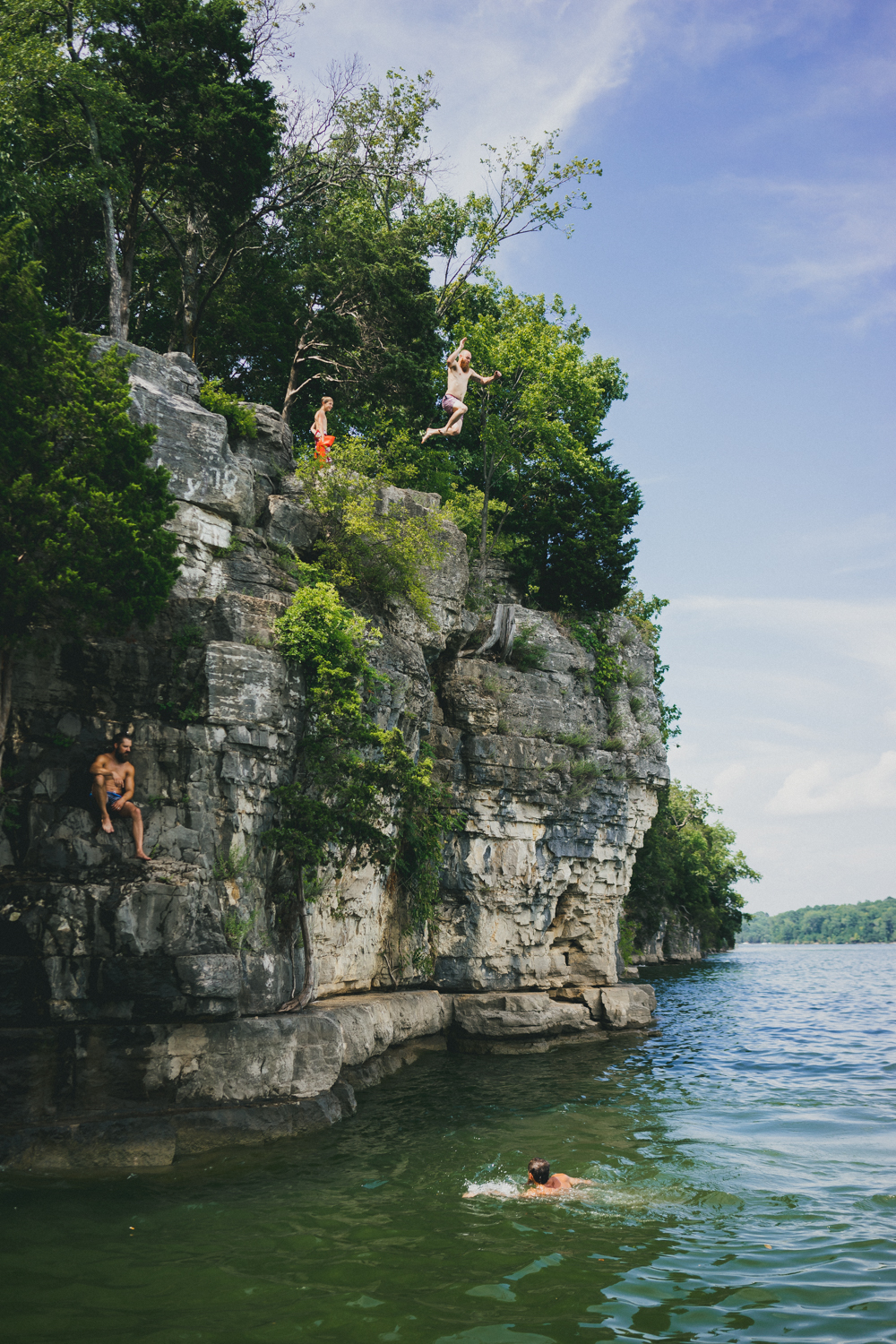 8.) Cliff Jumping at Percy Priest