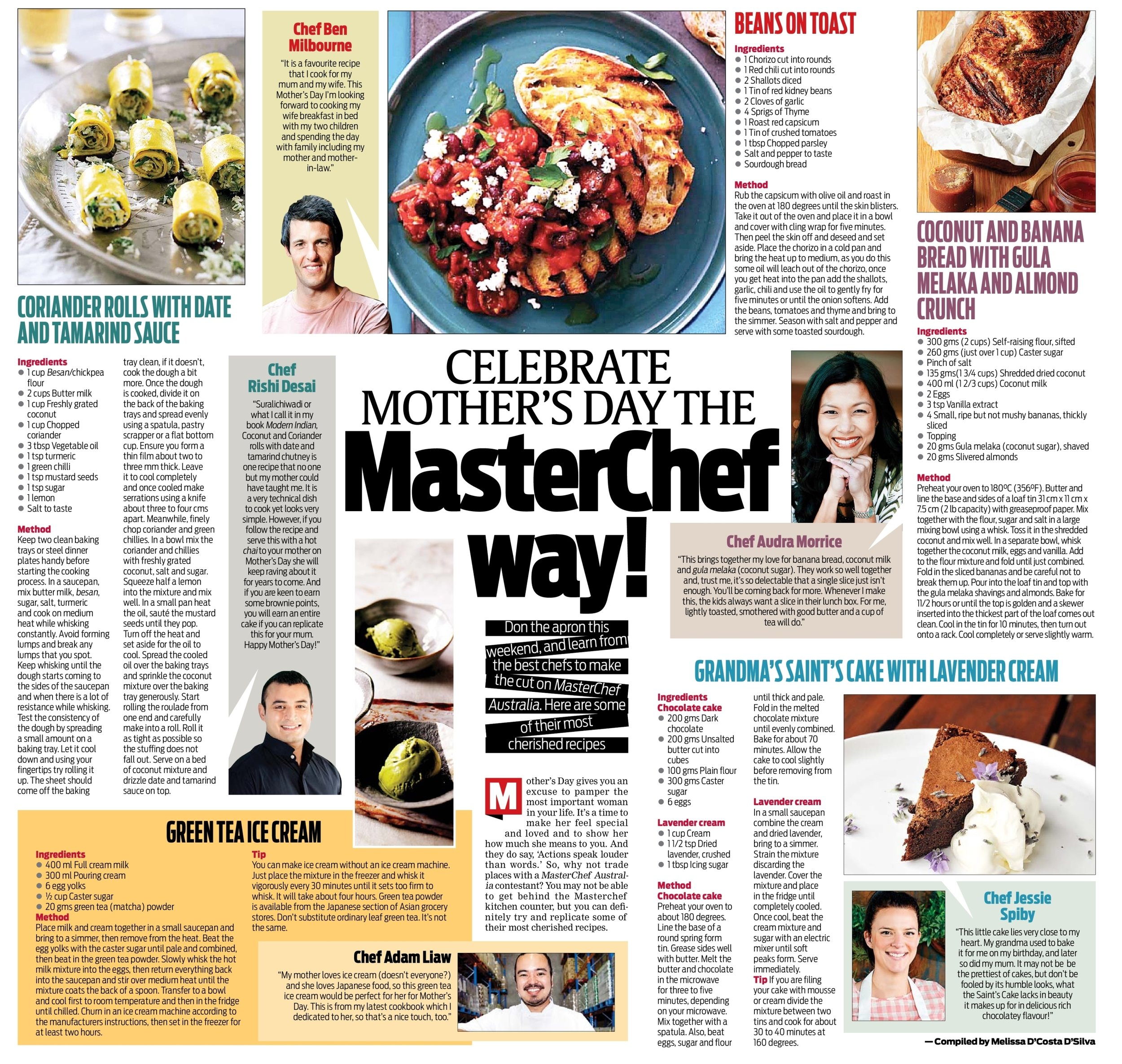 HELLO INDIA - Jessie chats to India's biggest English newspaper about Mother's Day and shares her Grandma's famous chocolate cake recipe.