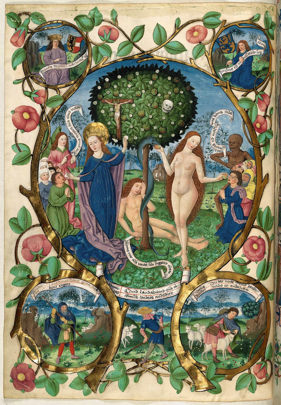 Image from the 15th century Salzburg Missal. Image from http://pre-gebelin.blogspot.com/