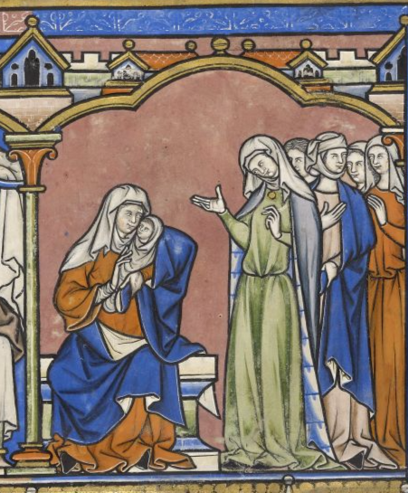 From the Morgan Crusader's Bible, Fol 19r,  http://www.themorgan.org/collection/crusader-bible/