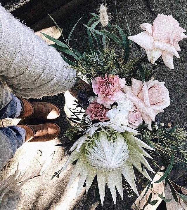 Floristry is comfier with our genuine sheepskin boots. What's your profession?? 🌸