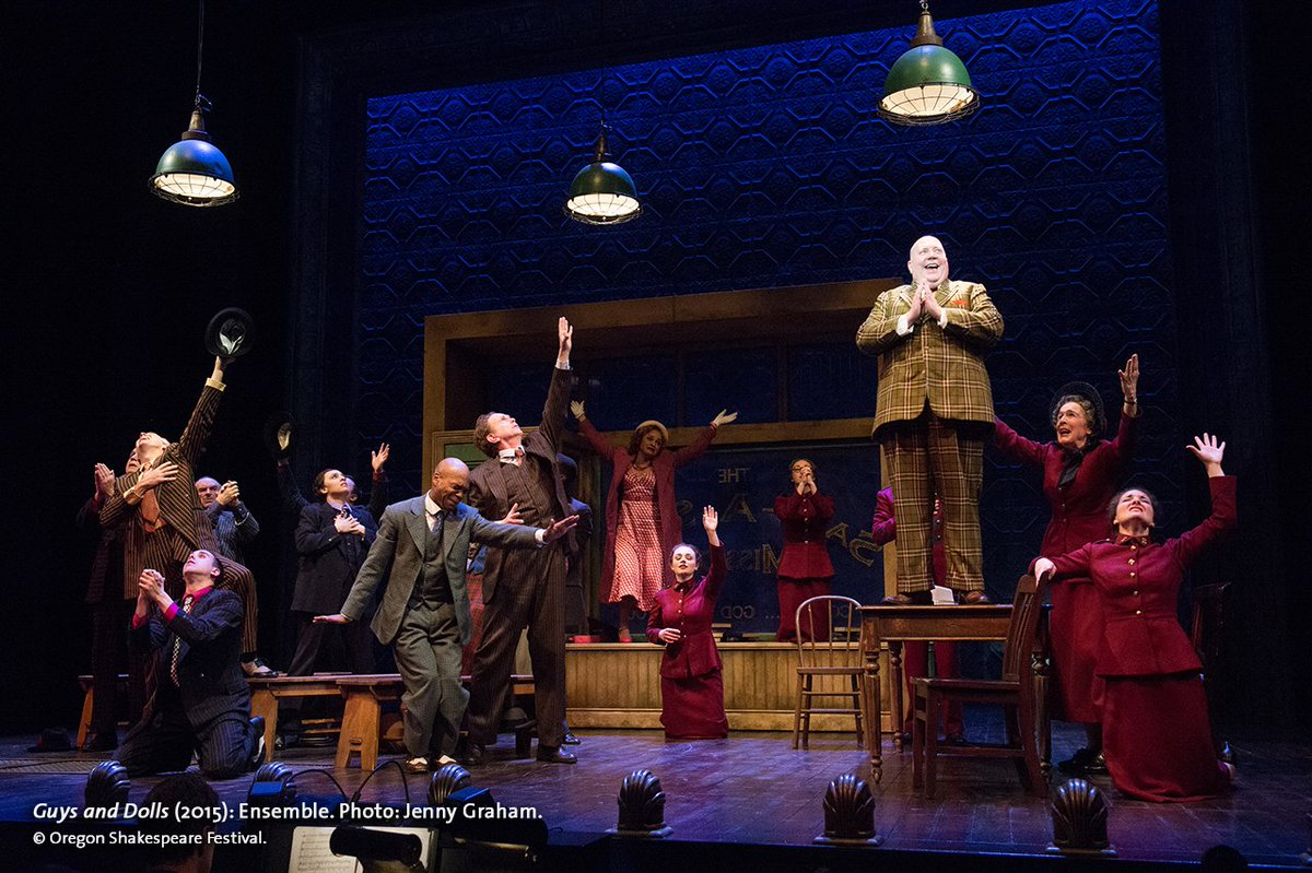 Guys and Dolls  Based on a Story and Characters of Damon Runyon Music and Lyrics by Frank Loesser; Book by Jo Swerling and Abe Burrows  Directed by Mary Zimmerman  Oregon Shakespeare Festival   2015
