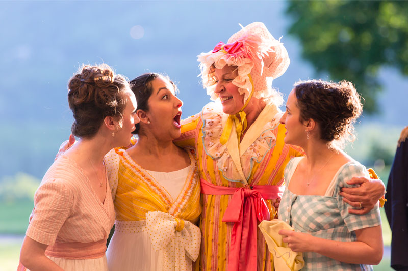 Pride and Prejudice  (World Premiere)  By Kate Hamill, adapted from the novel by Jane Austen  Directed by Amanda Dehnert  Hudson Valley Shakespeare Festival & Primary Stages  2017-2018