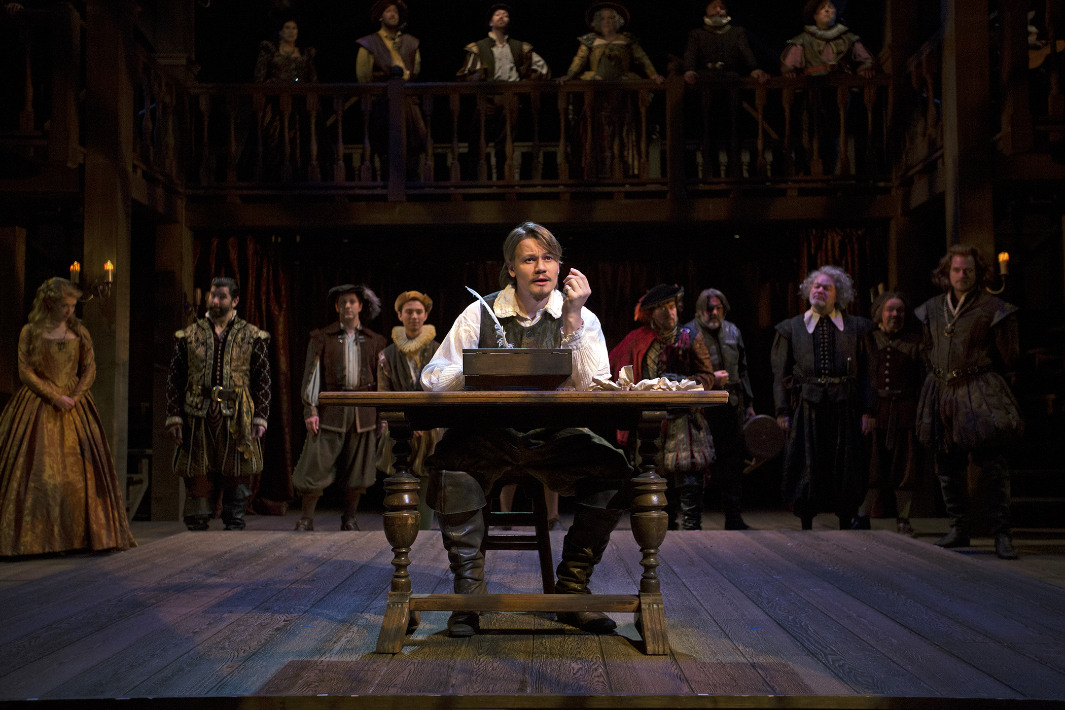 Shakespeare in Love   Adapted by Lee Hall, Based on the Screenplay by Marc Norman and Tom Stoppard  Directed by Marc Masterson  South Coast Repertory  2018