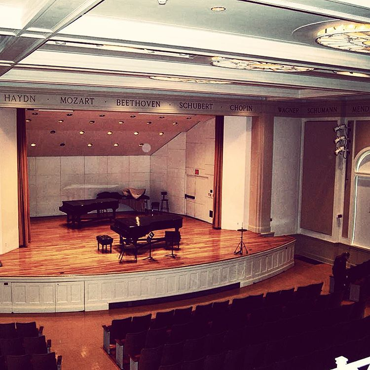 The Cambridge Philharmonic Orchestra just announced that I'll be writing/performing a new piece with them as part of their Women Composers concert at Harvard University 11/14. Attaching this Google image of the concert hall to begin visualizing:) Thrilled and honored.