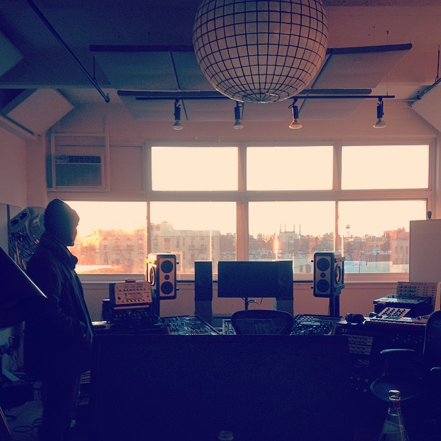 Just took a tour of Doom Room. Recording experiments finally evolved into record, which will be mixed here early winter by @cr_mclaughlin. (at Greenpoint, Brooklyn)