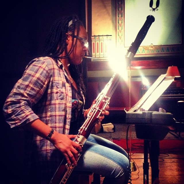 Bassoon time. Our last recording experiment of the week. @cr_mclaughlin