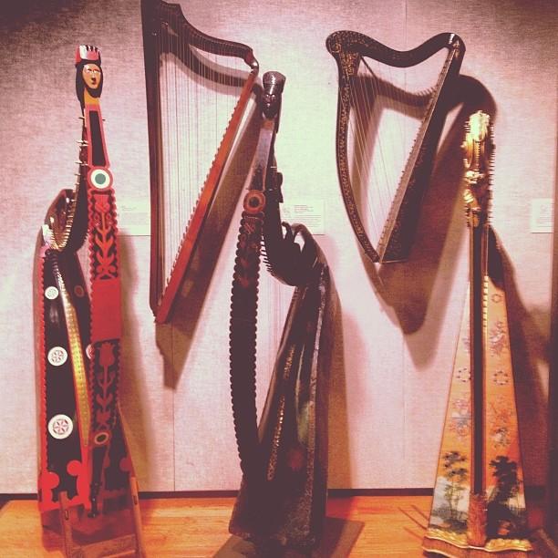 Harps of the past at Boston MFA.