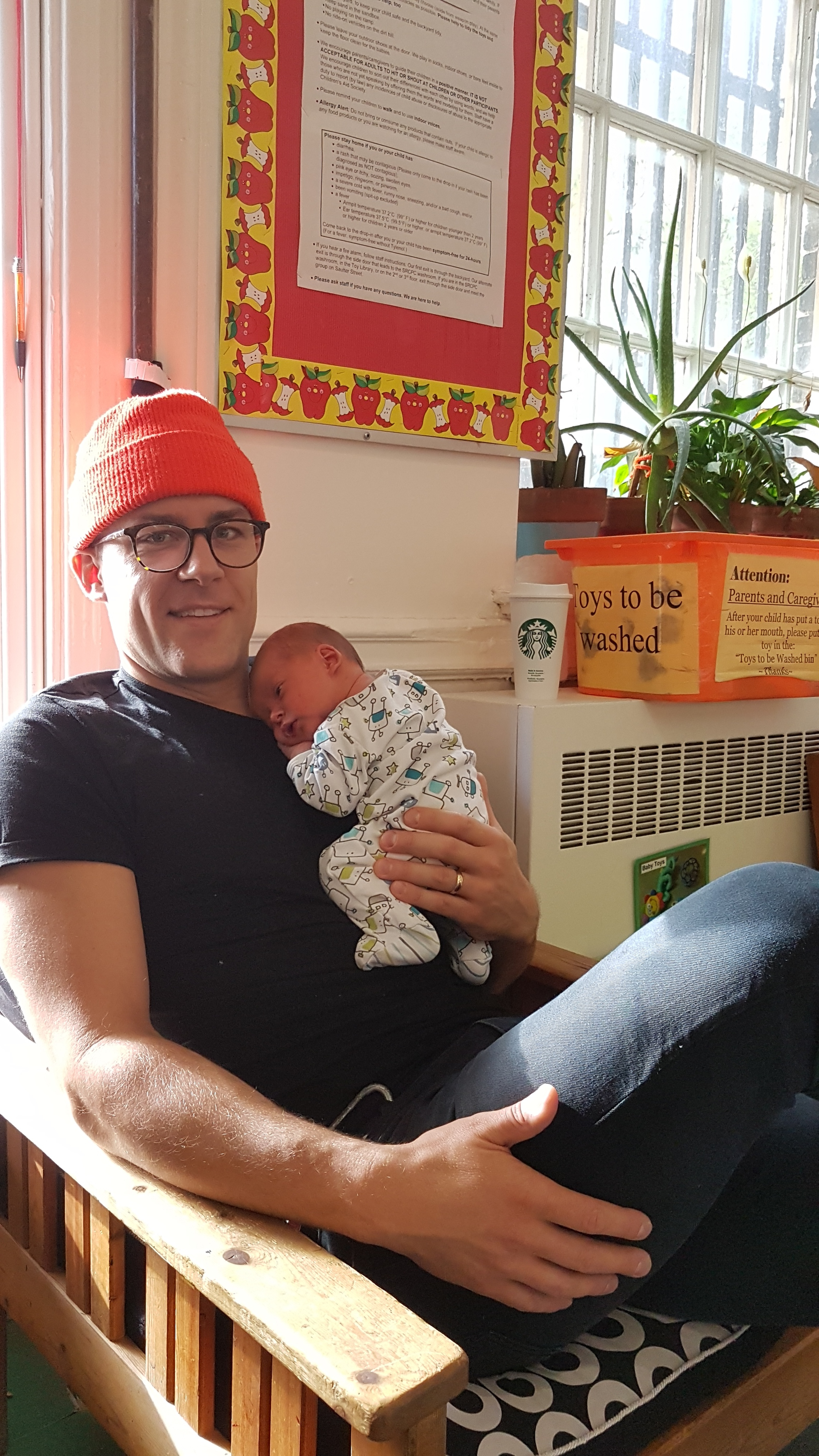 Daddy and new baby!