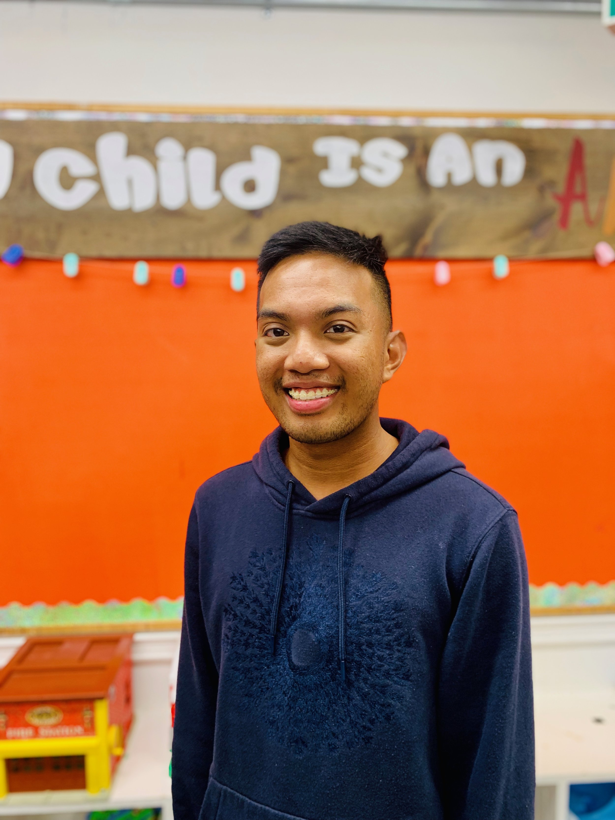 Rey is occasional staff as well! He is fluent in Tagalog and English and has been an Early Childhood Assistant since 2012. Rey has recently graduated from the Early Childhood Education program and will be attending Ryerson University in Fall 2019 to complete his bachelor program in Early Childhood Studies.