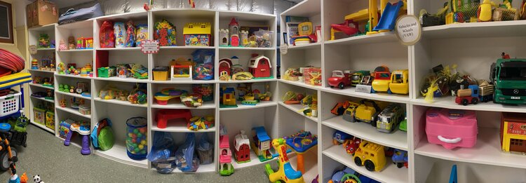 Want to borrow a toy? Ask us about our toy library!