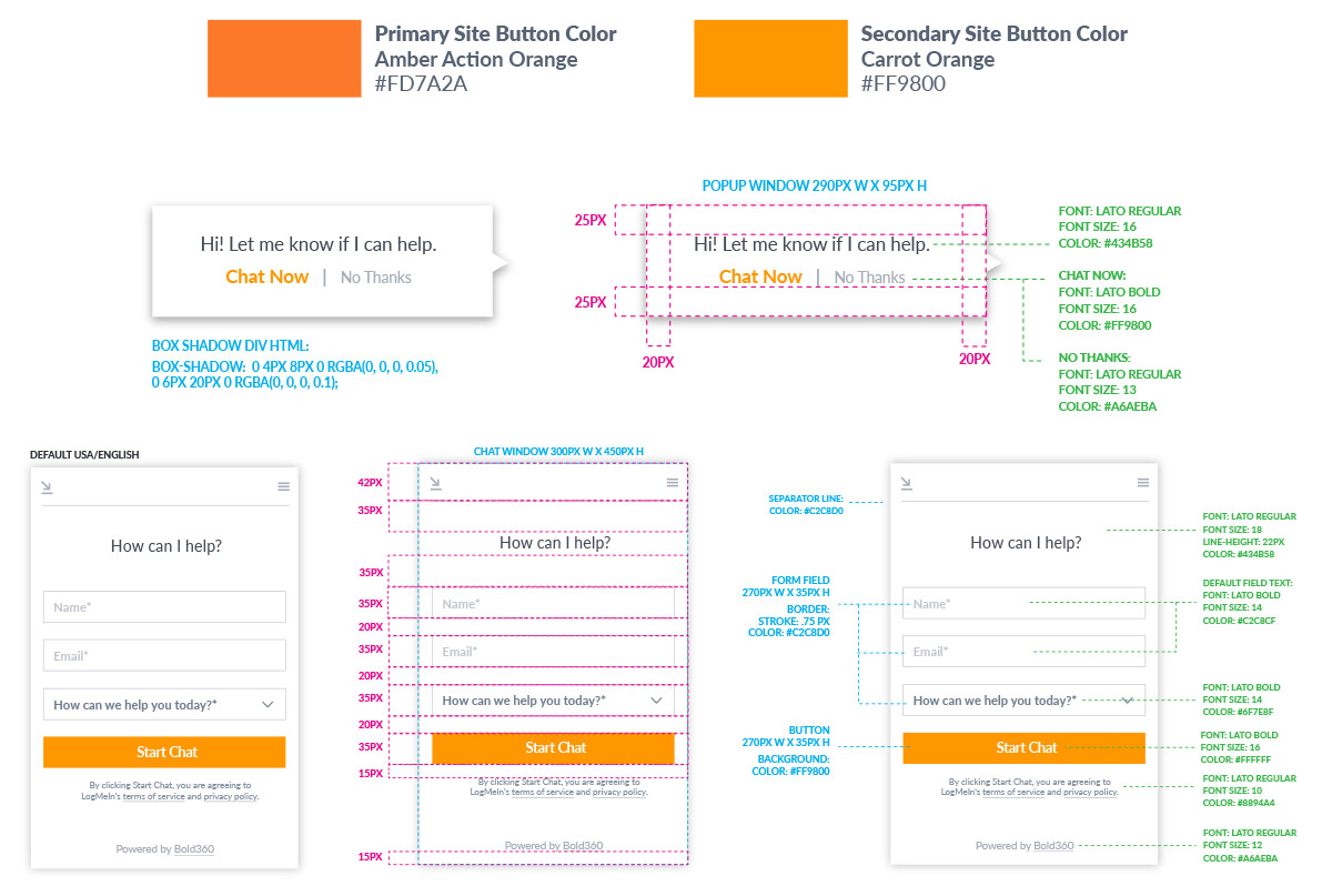 Web: Live Chat Design — Nicki Snyder