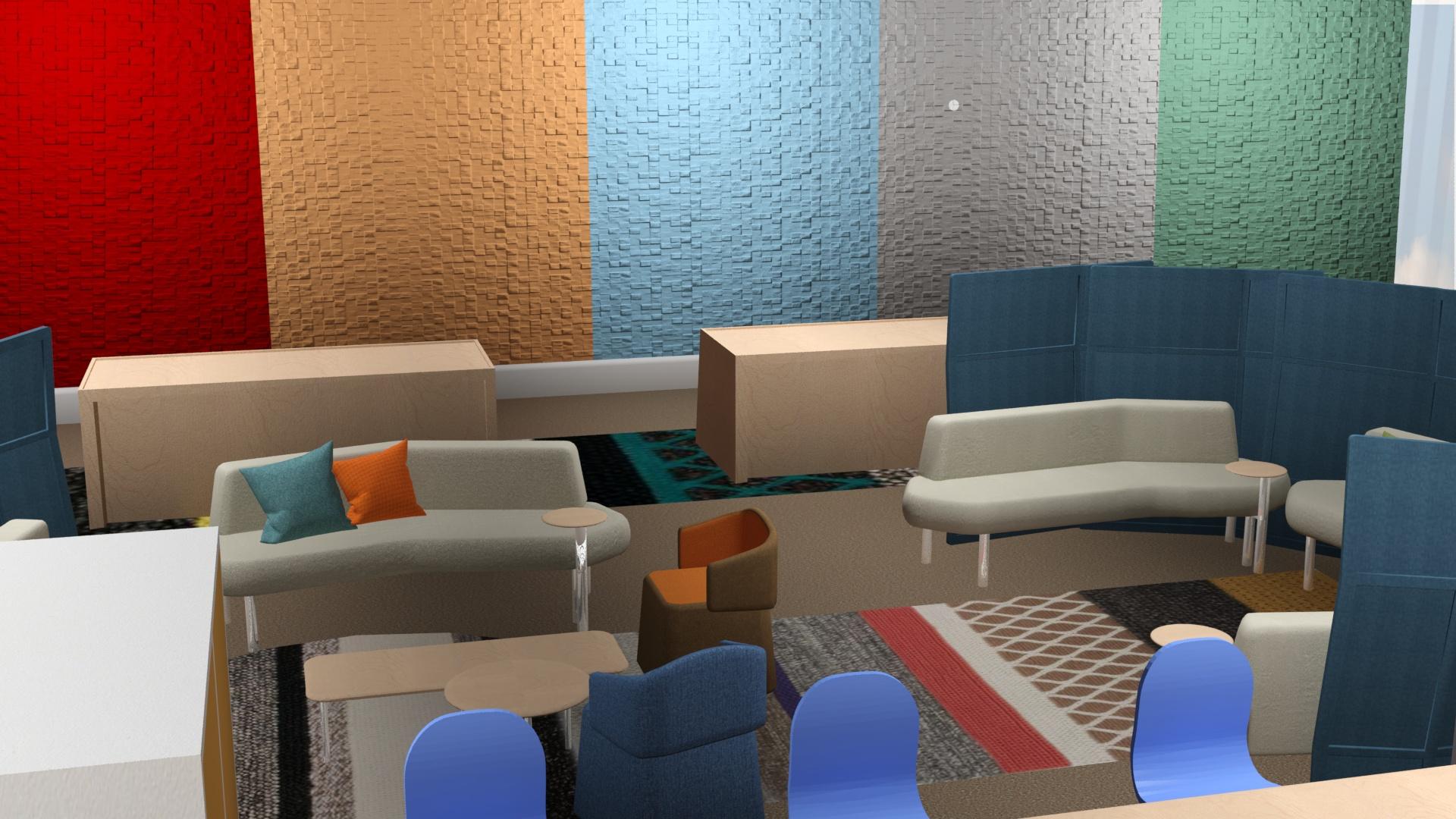 Haworth Showroom Rendering
