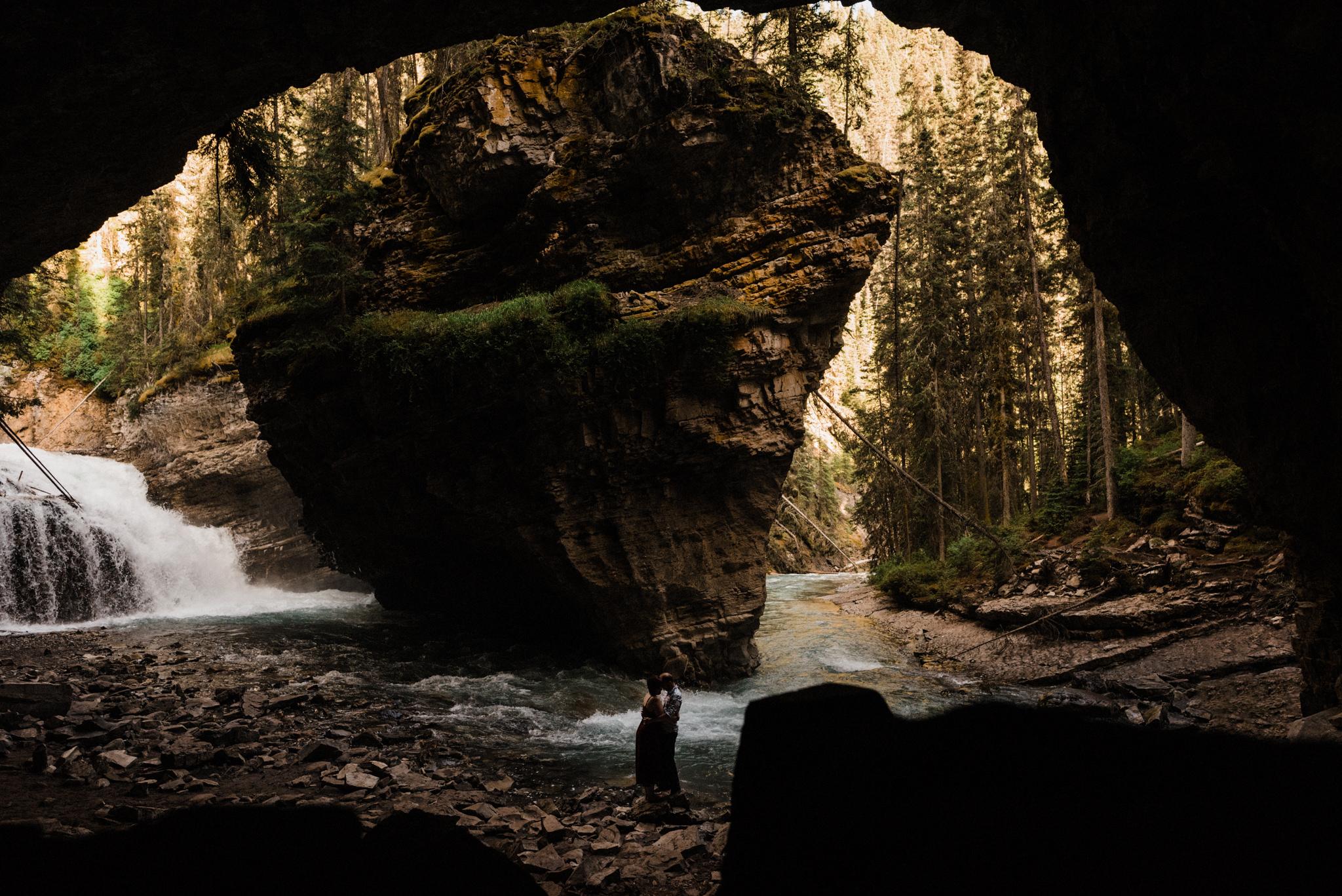 Johnston Canyon  Banff Engagement Photographers  Jenny & Garrett