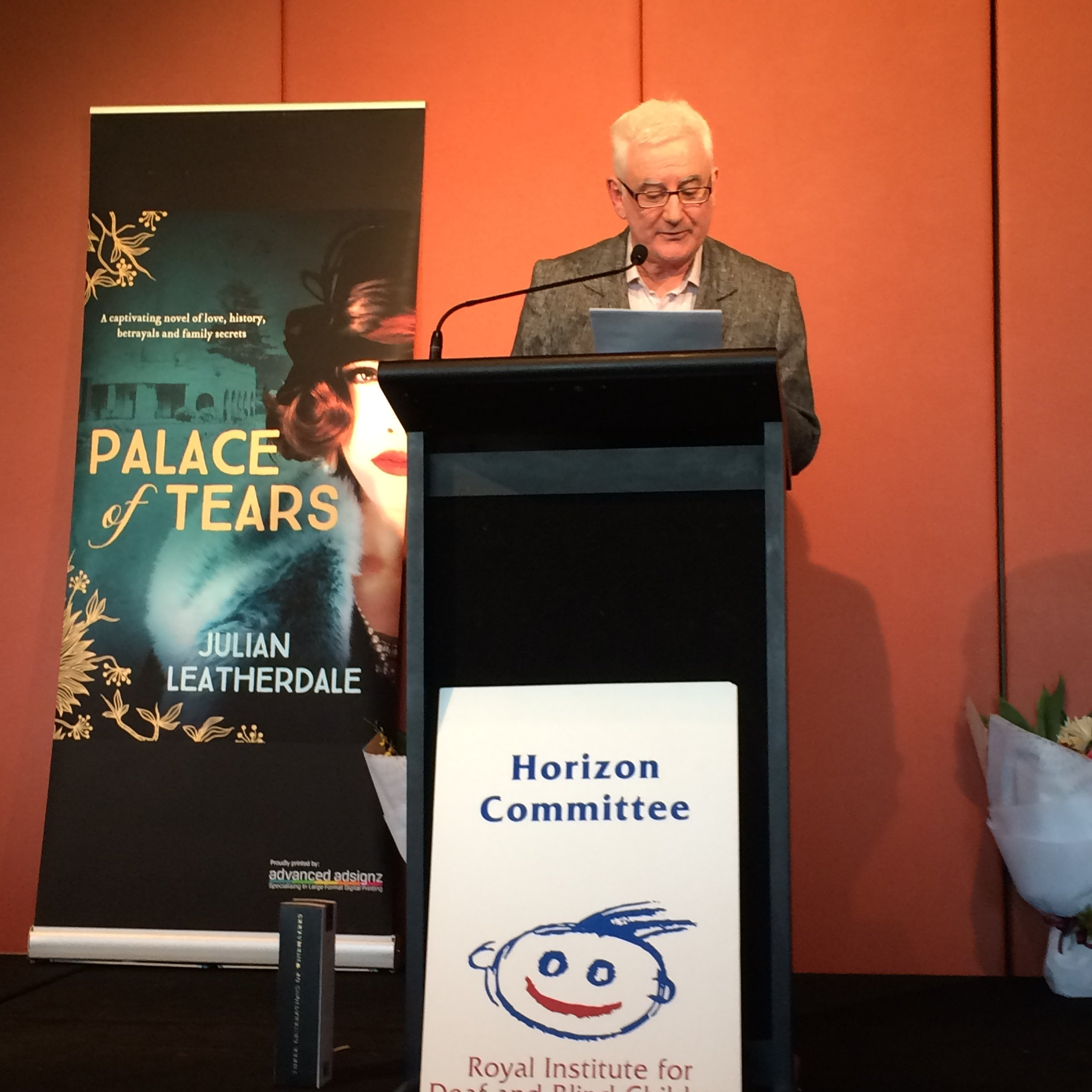 Delivering my speech on Palace of Tears