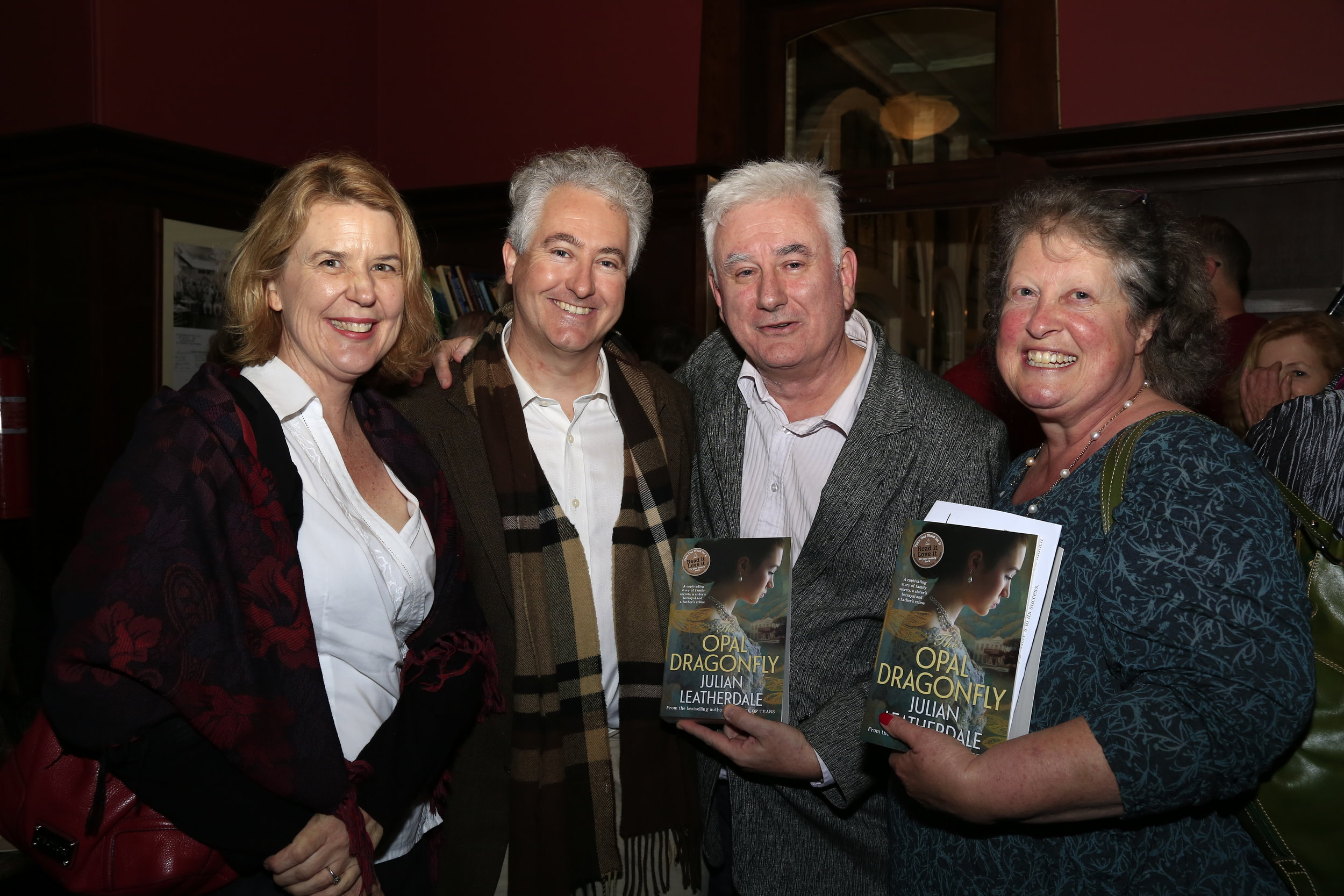 L-R: Alison Chivers, Adam Searle, Julian Leatherdale and Annette Barlow (publisher, A&U)