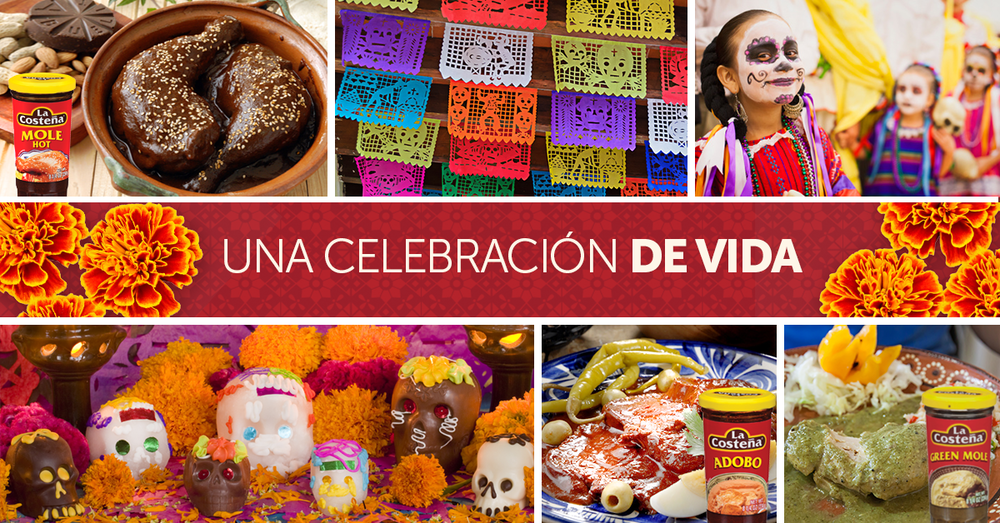 Day of the dead recipe teaser - La Costeña Hot Mole, Adobo and Green Mole