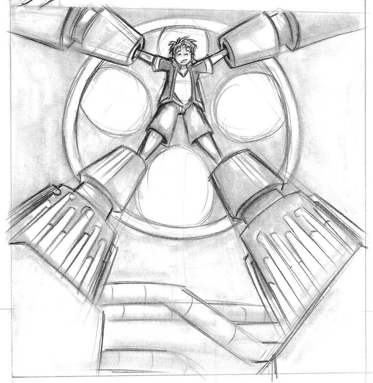 Webcomic panel art by Chris Moujaes.