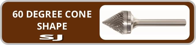 Norseman 60 Degree Cone Shape SJ Burr