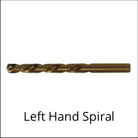Left Hand Spiral Drill