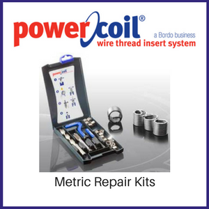 Power Coil Metric Wire Thread Inserts Repair Kit