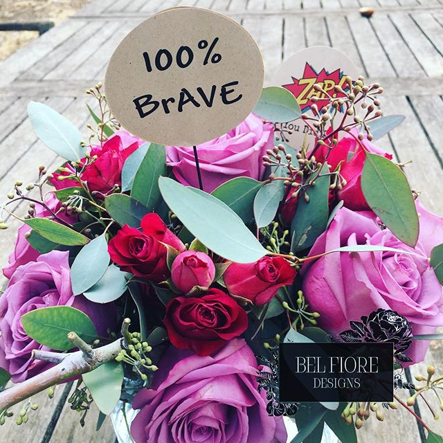 Cuz sometimes we could use a little encouragement.... @belfioredesigns ##BelFioreDesigns #BelFioreDesignsFloral #fckcancer #bebrave